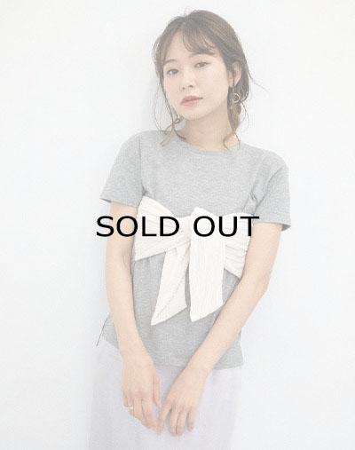 フロントリボンTシャツ